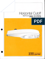 ITT American Electric Horizontal Cutoff Luminaire Series 13-14-25-26 Spec Sheet 10-81