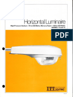 ITT American Electric Horizontal Luminaire Series 13 & 14 Spec Sheet 2-81