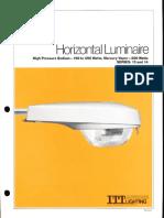 ITT American Electric Horizontal Luminaire Series 13 & 14 Spec Sheet 10-81