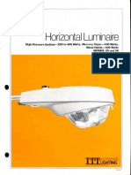 ITT American Electric Horizontal Luminaire Series 25 & 26 Spec Sheet 2-81