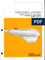 ITT American Electric Horizontal Luminaire Series 113 & 114 Spec Sheet 10-81