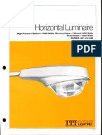 ITT American Electric Horizontal Luminaire Series 327 & 328 Spec Sheet 10-81