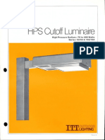 ITT American Electric HPS Cutoff Luminaire Series 53-54-153-154 Spec Sheet 5-80