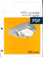 ITT American Electric HPS Luminaire Series 53 & 54 Spec Sheet 11-80