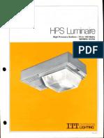 ITT American Electric HPS Luminaire Series 53 & 54 Spec Sheet 11-80