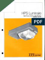 ITT American Electric HPS Luminaire Series 153 & 154 Spec Sheet 8-80