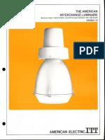ITT American Electric Interchange Luminaire Series 710 Spec Sheet 6-72