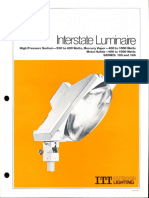 ITT American Electric Interstate Luminaire Series 185 & 186 Spec Sheet 11-80
