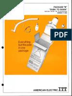 ITT American Electric Package B Dusk-To-Dawn 11-000 Spec Sheet 7-71