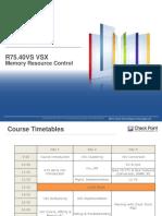 PO VSX Course 4 VSX Memory Resource Control