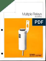 ITT American Electric 30 & 60 Amp Multiple Relays Series 3000 Thru 7000 Spec Sheet 2-79