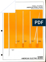 ITT American Electric Steel Poles Spec Sheet 5-72