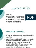 03 Argumentos Definición y Relación