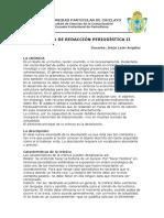 Separata de Redacción Periodística (UDCH)
