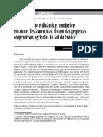 Cooperativismo e dinâmicas produtivas em zonas desfavorecidas