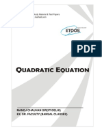The Quadratic Equations Exercise KOTA