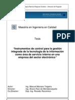 Instrumentos de control para la gestión integrada de la tecnología de la información