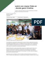 Vidal Se Mostró Con Juana Viale en Un Distrito Donde Ganó Cristina