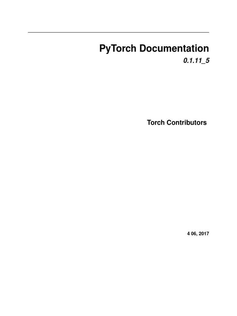 PyTorch Documentation | Parameter (Computer Programming