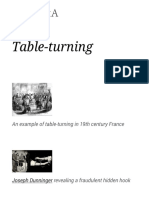 Table Turning Wikipedia