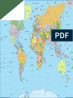 English World Political Map