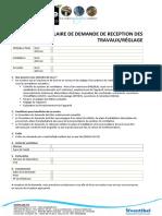 Formulaire Livraison Réglage