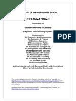 UG Examination Handbook