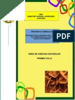 1.- Proyecto Curricular Ciencias Naturales 1º Ciclo Ceip Mmaparcero