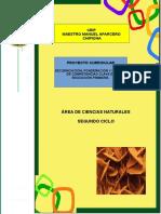 1.- Proyecto Curricular Ciencias Naturales 2º Ciclo Ceip Mmaparcero