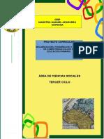 2.- Proyecto Curricular Ciencias Sociales 3º Ciclo Ceip Mmaparcero