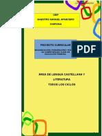 3.- Proyecto Curricular Lengua Todos Los Ciclos Ceip Mmaparcero