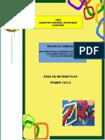 4.- Proyecto Curricular Matematicas 1º Ciclo Ceipmmaparcero
