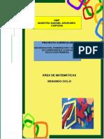 4.- Proyecto Curricular Matematicas 2º Ciclo Ceipmmaparcero