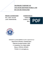 A comparitive study between public and private sector banks in India