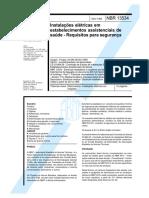 Nbr 13534 Instalacoes Eletricas Saude Requisitos Seguranca