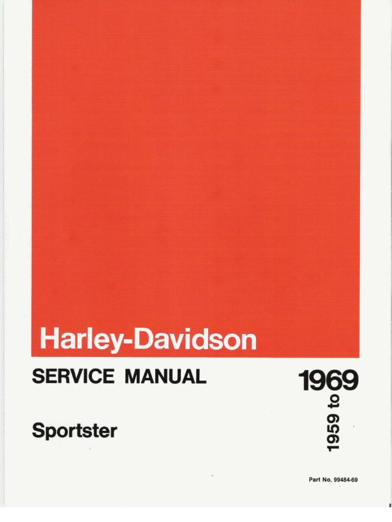 1959 1969 Harley Davidson Sportster Service Manual Ignition System Twin Cam Engine Diagram Oil Line Routing Carburetor