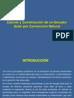 Calculo y Construccion Secador Solar Conveccion Natural