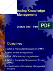 19978 Lecture 1 Introducing Knowledge Management