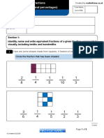 Number Fractions Including Decimals and Percentages Y5 Test2 (1)