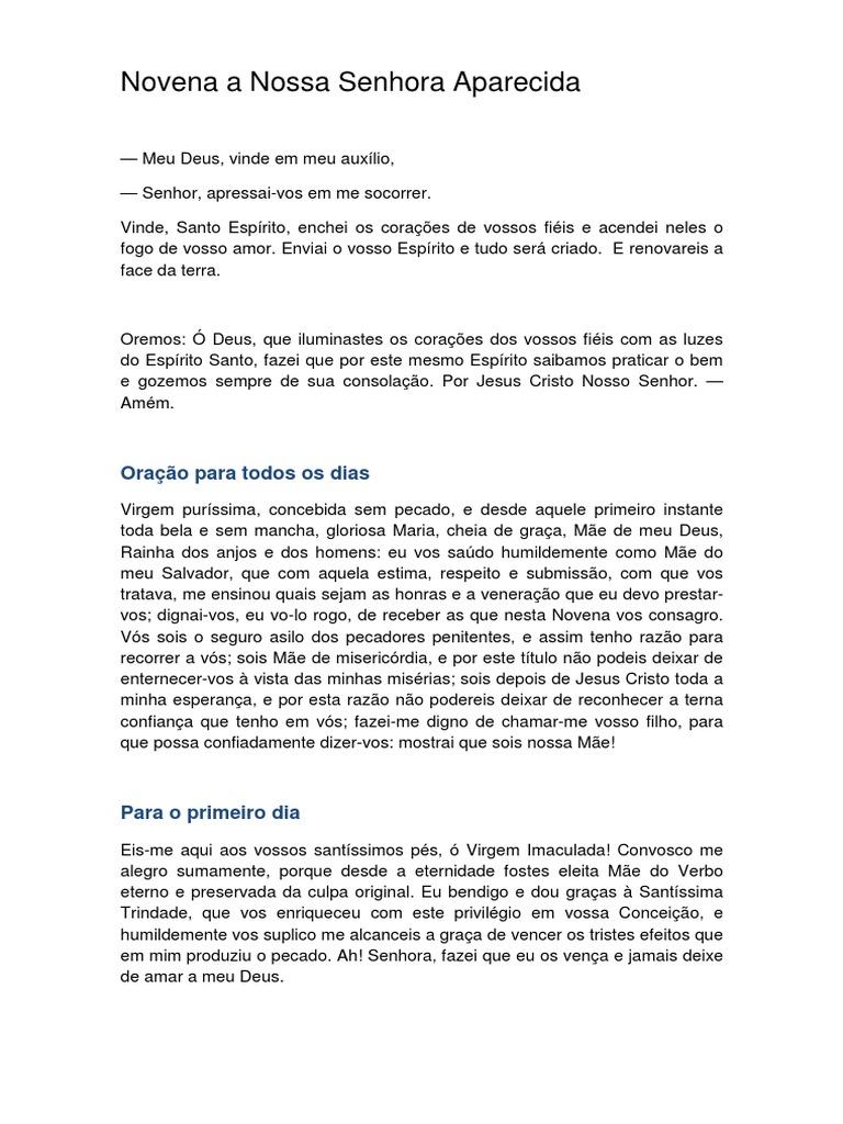 2011 NOVENA DE SENHORA APARECIDA DA BAIXAR LIVRO NOSSA