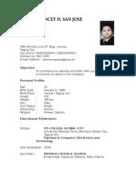 Resume - Aldrin Kencey San Juan