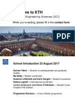 Welcome to KTH Masterstudents 2017