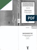 Praz - Mnemosyne -El Paralelismo Entre La Literatura y Las_artes Visuales