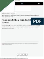 Fiesta Con Timba y Fuga de Divisas Sin Control Página12 La Otra Mirada