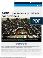 PASO Qué Se Vota Provincia Por Provincia - Ambitocom