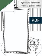 Pipo e Fifi - Para Colorir e Desenhar Uma Pessoa Na Qual Confia