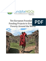 Top European Donors for Eradication of Poverty