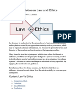 Difference Between Law and Ethics