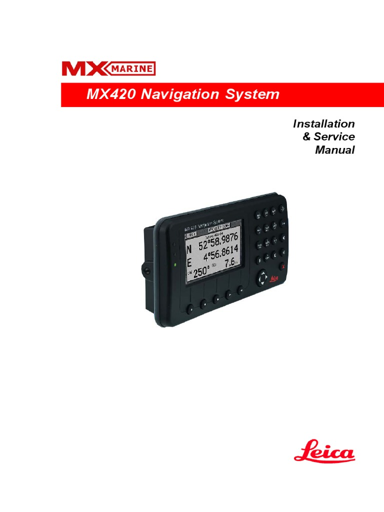 mx 420 instalation and service manual