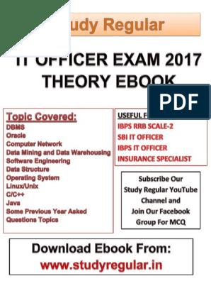It Officer Notes eBook | Relational Database | Sql